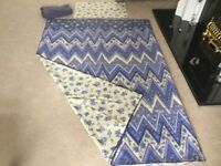 Beautiful, Quality, Reversible Duvet Cover and Pillow Case for a Single Bed + Free Fitted sheet