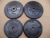 cast iron weights 1inch hole 4 x 10kg