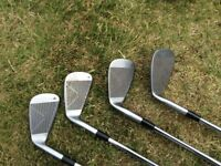 Golf bag and clubs drivers irons putter set house clearance £30