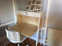 IKEA DESK w/chair- £50 - purchased 1 year ago for short term use - paid £170
