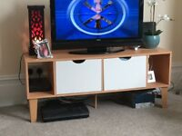 Free TV stand - mdf with metal legs