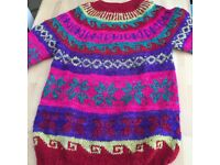 Ladies colourful wool Jumper, size 12