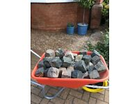 57 granite stone cobbles setts cube blocks garden paving edging