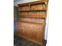 Solid pine kitchen dining room dresser. Quick sale! Storage and display. Great condition.