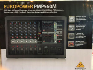 **NEUF** BEHRINGER EUROPOWER PMP560M 6 Canaux 500w **NEUF