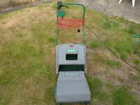 QUALCAST ELECTRIC LAWN MOWER WITH GRASS COLLECTION BOX