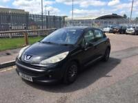 PEUEOUT 207 1.4 SE 2006 BLACK 5DOORHTACH BACK WITH FULL SERVICE HISTROY