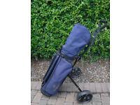 Ladies golf clubs & trolley