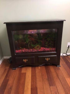 Hand Made Cabinet With Fish Tank