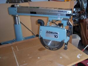 "Delta 10"" Radial Arm  Mitre Saw"