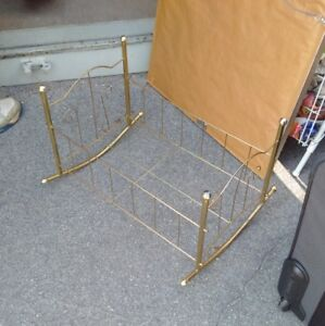 Vintage Brass Doll Crib or Bed
