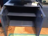 TWO BLUE OFFICE STORAGE UNITS IN GOOD USED CONDITION ...FREE LOCAL DELIVERY