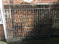 2 6ft x6ft wrought iron gates
