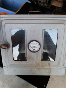 Antique tin stove  oven