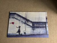 Banksy Wild Walks canvas, in good condition.