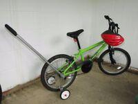 Child's Bike with Stabiliser Training Wheels