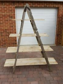 Industrial looking upcycled shelving unit