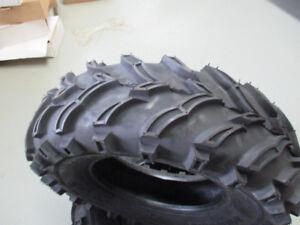 2 pneus roadguide 25 x 8 x 12 neuf $199