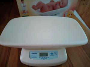 Pèse bébé TEFAL Kgs/Lbs 0 à 20 Kgs/44 Lbs