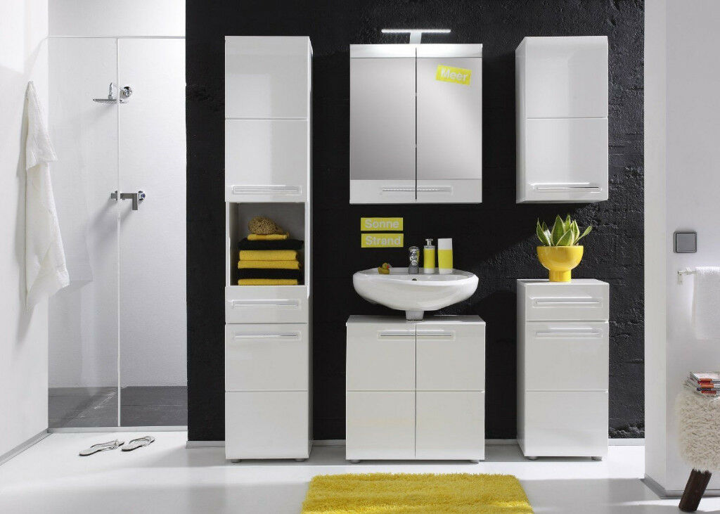 Furnline Bora High Gloss Bathroom Furniture Tall Cabinet, Whitein Sighthill, EdinburghGumtree - Ive got for sale tall bathroom cabinet, its an ex display with a bit damaged drawer (a bit of paint should cover it) otherwise really nice. Furnline Bora High Gloss Bathroom Furniture Tall Cabinet, White Contemporary Furniture for your Bathroom A...