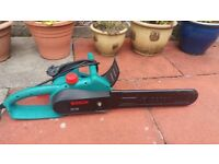 Bosch electric chainsaw. Only used twice. Like new.