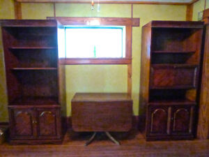 MAHOGANY WALL UNITS 3 PIECE CHINA BOOK ELECTRONICS