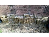 Stone effect concrete bricks