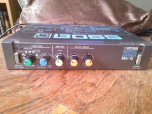 Vintage Boss RRV-10 Digital Reverb 1980's No Trade