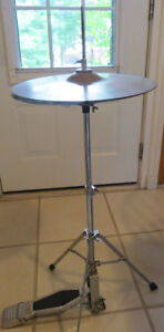 """Vintage UFIP hi hats with """"Speed Pedal"""" stand"""