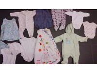 Baby starter whole set up Bundle job lot of 45 items age 0-6 months for boy clean excellent condit.