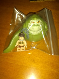 Lego Star Wars Jabba the Hutt and slave Leia action figure