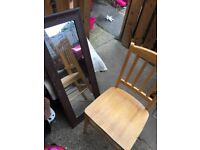 Free pine chair and mirror