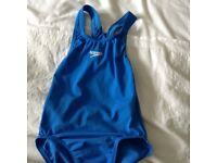 Girls racer back speedo swimming costume age 8