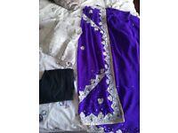Purple Saree. Nearly new.