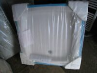 White stone shower tray 800 x 800 - new, still in original packaging