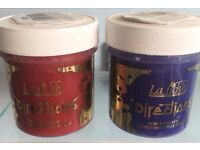Red and purple hair dyes (La Riche Directions)