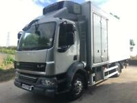 2007 57 DAF LF 55.220 14ton 21ft fridge box, Carrier supra 550 freezer tail-lift