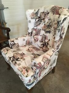 Stunning wing back accent chair! Must go!