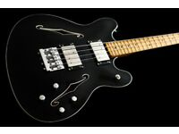 Fender Starcaster Bass in Ebony + gigbag. Link to video of Royal Blood using one live in listing.