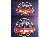 Alton towers tickets for summer holidays different dates
