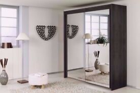 ★★ UPTO 50% OFF★★ BRAND NEW ★★ BERLIN 2 DOOR SLIDING WARDROBE WITH FULL MIRROR -EXPRESS DELIVERY