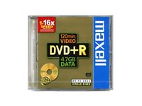 MAXELL DVD+R 120 MIN VIDEO 4.7GB DATA (5 PACK JEWEL CASES) NEW 6 PACKS OF 5 DISCS