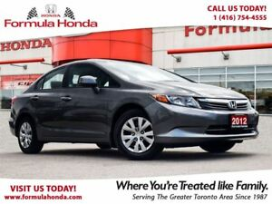 2012 Honda Civic LX | LOW KM! | ONLY $11, 500 + TAXES!