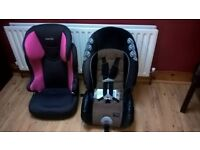 Selection of car seats, great condition