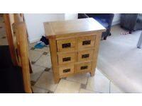 Solid oak vancouver petite set of drawers