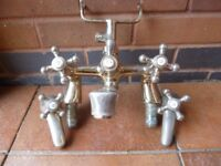 Mixer tap with shower outlet, vintage. [fundraising for URAFIKI – Charity Number 1078505]