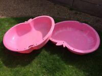Pink sand pit/padding pool