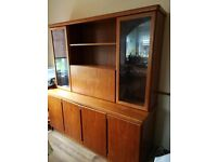Free to collector only. Large solid wood 2 part dresser and matching sideboard from smoke free home