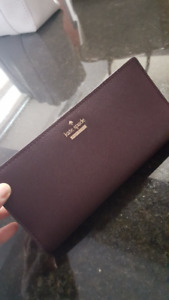 Brand New Leather Kate Spade Wallet - Eggplant colour
