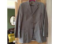 Jonathan Adams mens cotton suit, olive green.